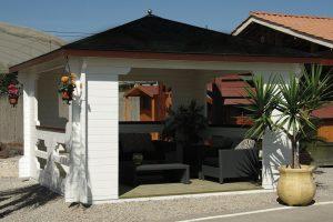 Drewniana altana ogrodowa Ibiza 400x400 cm